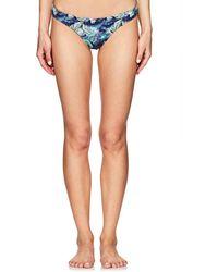 OndadeMar - Nightshadow Palm-leaf-print Bikini Bottom - Lyst