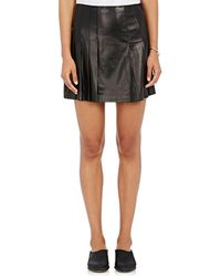 Tess Giberson - Pleated Leather Skirt - Lyst