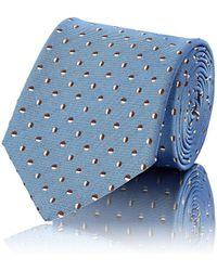 Bigi - Multicolored-dot Silk Faille Necktie - Lyst