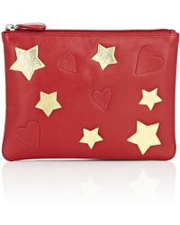 Barneys New York - Large Leather Pouch - Lyst