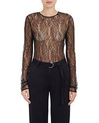 A.L.C. - Lace Long-sleeve Bodysuit - Lyst f5ef9ee4c