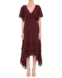 Derek Lam - Tiered-hem Silk Georgette Midi-dress - Lyst