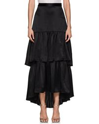 Cynthia Rowley - Silk Tiered Maxi Skirt - Lyst