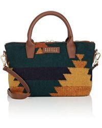 Barneys New York - Monica Mini Leather-trimmed Satchel - Lyst