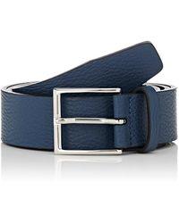 Barneys New York - Grained Leather Belt - Lyst