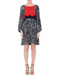 Chloé - Floral Gauze Shift Dress - Lyst