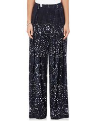 Warm - Sun Tie-dyed Silk Crossover Pants - Lyst