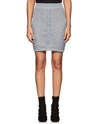Balmain - Mixed Knit Miniskirt - Lyst