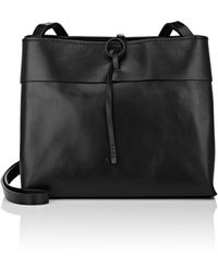 Kara - Tie Leather Crossbody Bag - Lyst