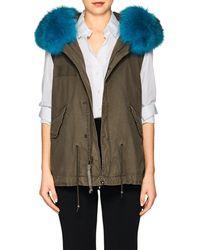 Mr & Mrs Italy - Fox-fur-trimmed Mini-vest - Lyst