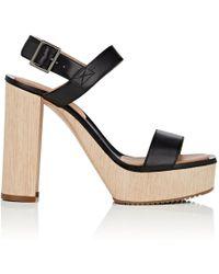 Calvin Klein - Fauna Bis Leather Platform Sandals - Lyst
