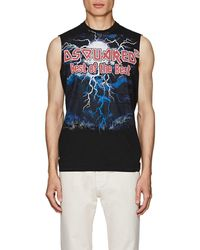 DSquared² - Graphic-print Cotton Jersey Tank - Lyst
