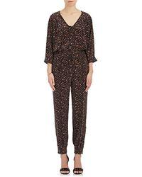 Maison Mayle - Saint Phalle Leopard-print Silk Jumpsuit - Lyst