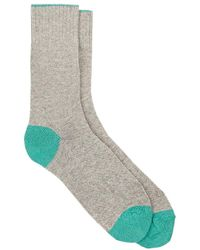 Barneys New York | Tipped-cuff Stockinette-stitched Mid | Lyst