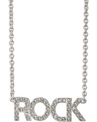 Zadig & Voltaire - rock Pendant Necklace - Lyst