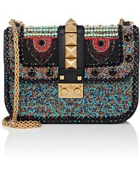 Valentino - Small Beaded Leather Shoulder Bag - Lyst