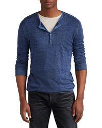 John Varvatos - Silk-cashmere Henley Sweater - Lyst