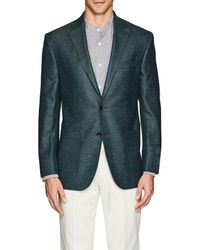 Piattelli - Wool-blend Hopsack Two - Lyst
