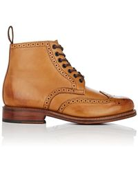 Grenson - Sharp Burnished Leather Boots - Lyst