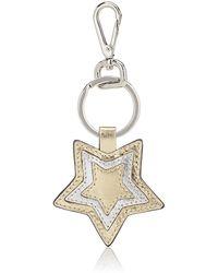Barneys New York - Star Leather Key Ring - Lyst