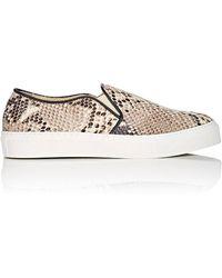 0d85998cf4 Barneys New York Leather Platform Slip-on Sneakers in White - Lyst