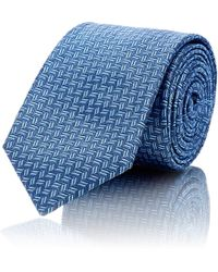 Barneys New York - Micro-zigzag Silk Jacquard Necktie - Lyst