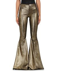 Faith Connexion - Leather Bell-bottom Pants - Lyst