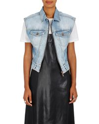 Fiorucci - Drew Embroidered Denim Crop Vest - Lyst
