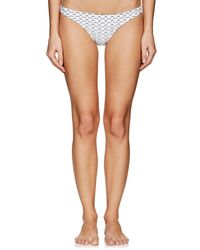 MILLY - St. Lucia Stretch-jacquard Bikini Bottom - Lyst