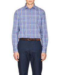 Ralph Lauren Purple Label - Plaid Cotton Poplin Shirt - Lyst
