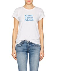 Rag & Bone - good Times Ahead Cotton T-shirt - Lyst