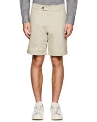 Officine Generale - Cotton Cuffed Shorts - Lyst