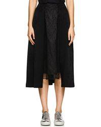 Noir Kei Ninomiya - Lace-inset Floral Jacquard Knee Skirt - Lyst