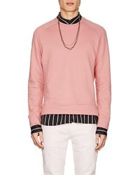 Barneys New York - Cotton Crewneck Sweatshirt - Lyst