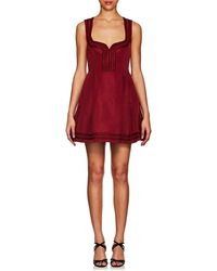 RED Valentino Faille A-line Dress - Red