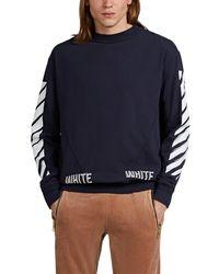 Off-White c/o Virgil Abloh - Cubic-logo Cotton Terry Crewneck Sweatshirt - Lyst