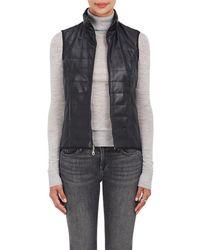 Barneys New York - Quilted Faux-leather Vest - Lyst