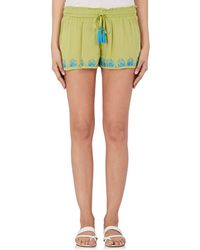OndadeMar - Embroidered Voile Shorts - Lyst
