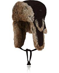 Crown Cap - Fur-trimmed Wool - Lyst