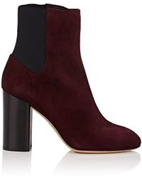 Rag & Bone Agnes Suede Ankle Boots - Red
