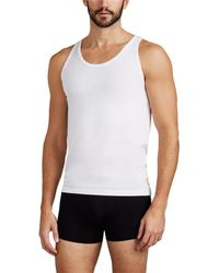 Zimmerli - Piqué Como Cotton-blend Tank Top - Lyst