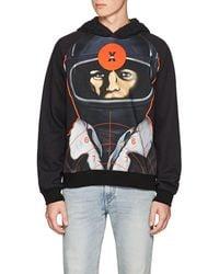 Christopher Kane - Astronaut-print Back-zip Cotton Hoodie - Lyst