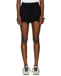 Blank NYC - Wedge Frayed Denim Shorts - Lyst