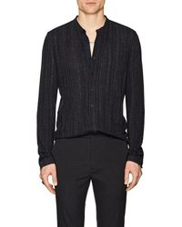 John Varvatos - Striped Linen-blend Shirt - Lyst