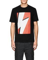 Neil Barrett Bolt-print Cotton T-shirt