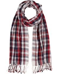Barneys New York - Plaid Cotton Scarf - Lyst