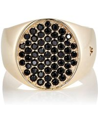 Tom Wood - Pinky Oval Black-spinel Ring - Lyst