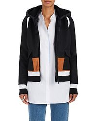 Tim Coppens - Leather-trimmed Wool Bomber Coat - Lyst