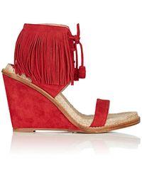 Paul Andrew - Shantou Suede Wedge Sandals - Lyst