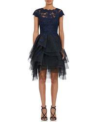 Monique Lhuillier - Tulle & Lace A-line Dress - Lyst
